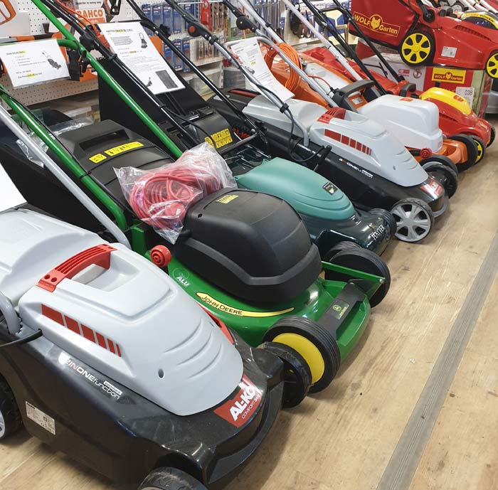 Electric Lawnmower Showroom