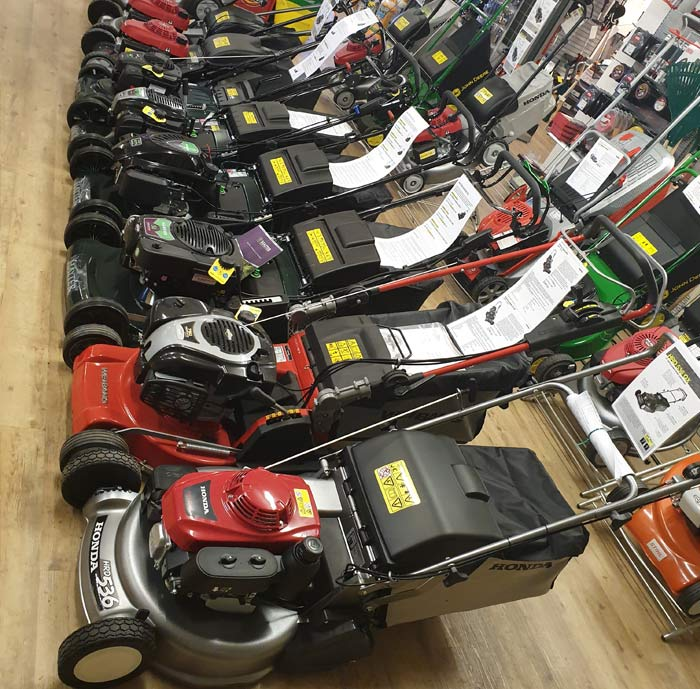 Petrol Lawnmower Showroom